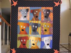 Dog Daze Quilt - love the use of the Kaffe Fasset fabrics