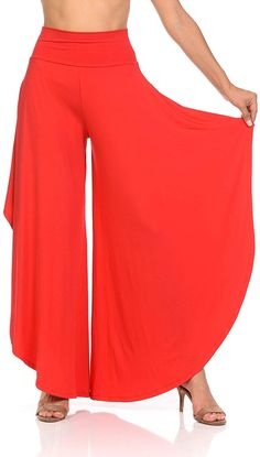 Best 12 JDJ CO. Women's Layered Wide Leg Flowy Cropped Palazzo Pants, length High Waist Palazzo Wide Legs Capri Pants Sewing Clothes, Diy Clothes, Clothes For Women, Dress Sewing Patterns, Clothing Patterns, Fashion Pants, Fashion Dresses, Pantalon Large, Mode Hijab