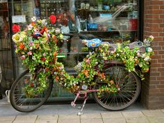 flower bike - (elizajanecurtis@flickr)