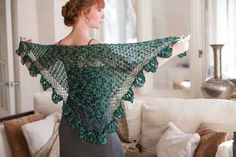 Crochet So Lovely: Broomstick Lace Crochet Shawl