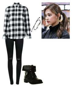 """""""Untitled #2661"""" by randomness2-1 on Polyvore featuring J Brand, Golden Goose, Refresh and Music Notes"""