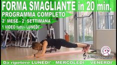HIIT in forma in 5 mesi PROGRAMMA COMPLETO - 2° MESE 2°SETTIMANA 20 Min, Hiit, Gym Equipment, Sports, Shape, Hs Sports, Excercise, Workout Equipment, Sport