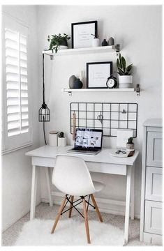Study Room Decor, Room Ideas Bedroom, Small Room Bedroom, Bedroom Decor, Small Rooms, Master Bedroom, Modern Bedroom, Eclectic Bedrooms, Contemporary Bedroom