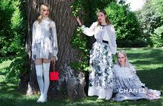 Charlotte Free, Stella Lucia and Kitty Hayes in Chanel cruise 2016 campaign Photoshoot