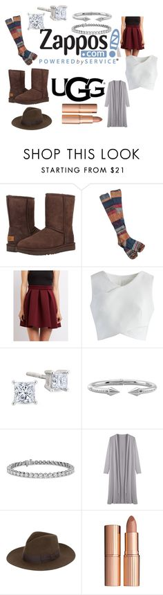 """The Icon Perfected: UGG Classic II Contest Entry"" by itsjazzmen ❤ liked on Polyvore featuring UGG Australia, Free People, Charlotte Russe, Chicwish, Vita Fede, Blue Nile, Yves Saint Laurent, Charlotte Tilbury, ugg and contestentry"