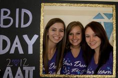 BID DAY :D really weird to see a picture of me on Pinterest!