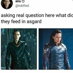 loki and his butter knives . have yall heard that theory about loki being right handed and his clone thingys being left handed? Loki Marvel, Loki Thor, Loki Laufeyson, Tom Hiddleston Loki, Marvel Dc Comics, Funny Marvel Memes, Avengers Memes, Marvel Jokes, Avengers Cast