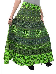 Mogulinterior Beach Wrap Around Skirt Green Ethnic Printed Saronge Wrap Dress Womens Maxi Skirts, Long Maxi Skirts, Summer Skirts, Casual Skirts, Green Wrap, Wrap Around Skirt, Ethnic Print, Bohemian Style, Bohemian Fashion