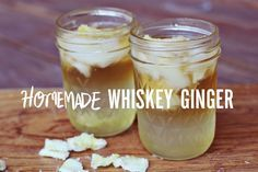Homemade #whiskey #ginger, the syrup is incredible.  Click for step by step directions.  I put the remaining ginger in the food processor with sugar for crystalized ginger, which I then put in pumpkin cookies (yum!)