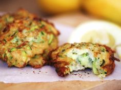 Zucchini, spinach & Cheese Fritters