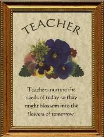 teacher poem flower