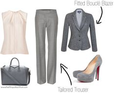 Not everyday is a Court/Client day, lovely shades of gray for a more casual look!