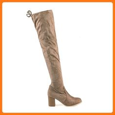 Mark and Maddux Stuart01 Women's Knee High Boots in Taupe, 10 M US (*Partner Link)