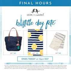 Get it before au revoir! Our Bastille Day Fête ends in just a few hours at 12pm EST!