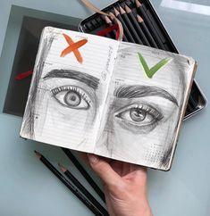 ▪Сегодня я хочу уделить больше внимания бровям. #draw_with_yana.❗Помните, рисовать можно, как угодно, нет никаких ограничений. Я лишь рада… Human Face Drawing, Realistic Eye, Learn To Draw, Graphite, Art Inspo, Learn How To Draw, Learn Drawing, Learn To Paint