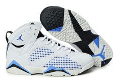 1ddfbe4f5c71 Wholesale Cheap White Black Blue Womens Air Jordan 7 (VII) Embroidery Your  Best Choice