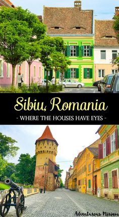 """Sibiu was voted Cultural European Capital in 2007 and named by Forbes as """"Europe's 8th most idyllic place to live"""". But that's not why you should visit. No, this city has something far more unique and interesting: first of all, it's based in Transylvania, the home of Count Dracula, and second of all: the houses have eyes. And they are watching you. Here's what to see and do in Sibiu, Romania."""