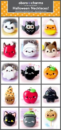 CUTE Halloween charms.
