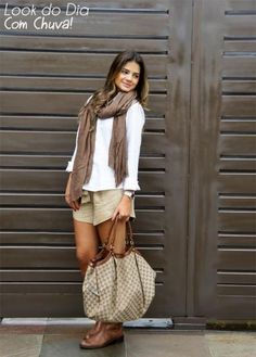 Brown Shorts - Thassia Naves