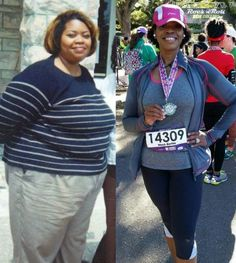 """Stick to a mantra! """"'Fit by 40!' became my new mantra,"""" says Almetria. Here are 25 other easy and inspiring weight loss tips."""