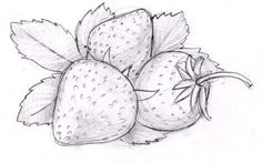 Erdbeeren zeichnen - Anleitung-dekoking-com-1