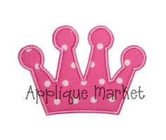 Machine Embroidery Design Applique Simple Crown by tmmdesigns, $3.00