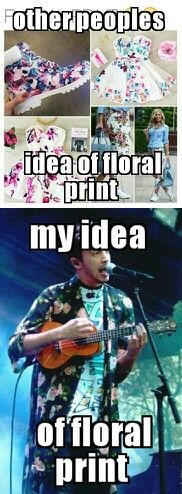 No, but really those floral boots are cool