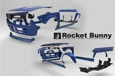 """Rocket Bunny Nissan 240SX 1994-98 Full Rocket Bunny 240SX (S14) V2 """"Boss"""" Conversion Aero Kit"""