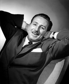 Walt Disney---This is such a pose I don't think he did often. He was always on the go. I imagine that his first time realizing Disneyland was a success, he did this. :)