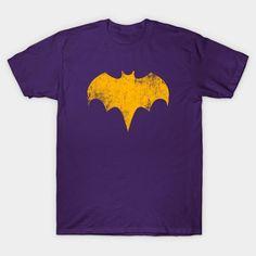 Bat Girl T-Shirt - Batgirl T-Shirt is $13 today at TeePublic! Batgirl, Superhero Logos, Dc Comics, V Neck T Shirt, Graphic Tees, Batman Stuff, Classic, Fabric, Mens Tops