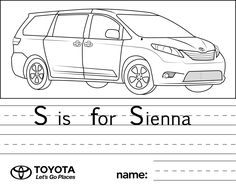corolla coloring pages | Toyota for Kids on Pinterest | Coloring Pages, Crayons and ...
