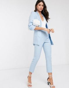 Kpop Fashion Outfits, Mom Outfits, Cute Casual Outfits, Chic Outfits, Ladies Trouser Suits, Tailored Suits, Graduation Suits, Costumes Bleus, Snapchat
