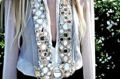 Gorgeous Monique Leshman sheer tunic