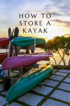 Do you know where and how to store a kayak? We're exploring best practices that will ensure your kayak stays in sea-worthy shape for decades. Kayak Rack, Kayak Storage, Storage Hacks, Storage Facility, Nook And Cranny, Temperature And Humidity, You Know Where, Small Boats, Storage Compartments