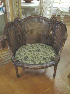 Antique Cane Back French Chair