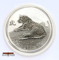 Off quality 2010 Australia Year of the Tiger 1 oz Silver Coin Sealed mint roll