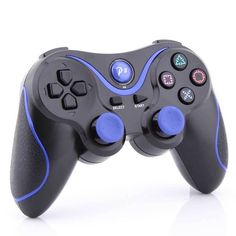 Blue Stripe Wireless Bluetooth Game Controller for Sony PS3 Playstation 3 Black #UnbrandedGeneric