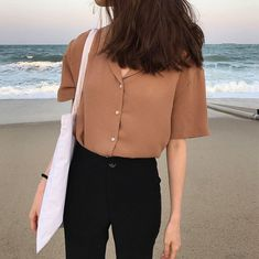 Korean fashion summer casual · image in kfashion collection by ㅇㅈㅇ on we heart it casual korean outfits, korean casual Korean Fashion Trends, Asian Fashion, Look Fashion, Fashion Outfits, Womens Fashion, Fashion Ideas, Korean Fashion Summer, Korea Fashion, Korean Ootd Summer