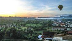 Hot Air Ballooning in Vang Vieng, Laos