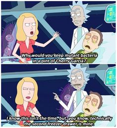 Second Freezer Drawer Rick And Morty Quotes, Rick I Morty, Wubba Lubba, Modern Family Quotes, Cruella Deville, The Mindy Project, Get Schwifty, American Dad, Adult Cartoons