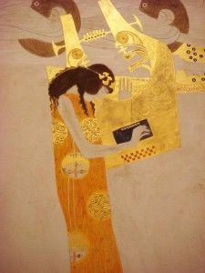 """Gustav Klimt, Fregio di Beethoven: """"Questo bacio a tutto il mondo"""""""