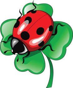Illustration of ladybug on clower vector art, clipart and stock vectors. Cartoon Kunst, Cartoon Art, Cartoon Characters, Ladybug Art, Fabric Painting, Rock Art, Cute Drawings, Baby Quilts, Painted Rocks