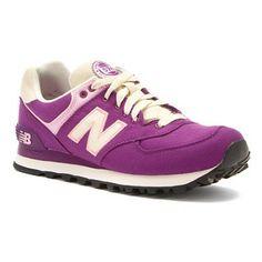 Womens New Balance Shoes WL574 Purple Canvas Textile