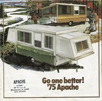 I have to admit... I am starting to have a crush on Apache Pop Up Campers...