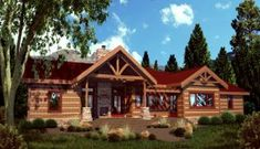 StoneMill's Cottonwood Log home
