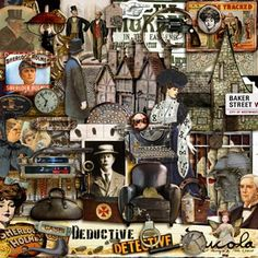 Deductive Detective by Rucola***A new addition to Deviant Scrap's awesome line-up of digital artists, Rucola loves Sherlock Holmes. This is perfect to go along with Tangie's Dr Who kit! Have the two meet!