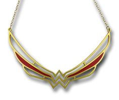 Wonder Woman Symbol Collar Necklace is a super cool necklace that will allow your neck to be adorned with the beauty and wisdom of DC Comics' Princess from Paradise Island! Wonder Woman Logo, Collars For Women, Geek Girls, Geek Chic, Collar Necklace, Jewelry Collection, Jewelery, Jewelry Necklaces, Fine Jewelry
