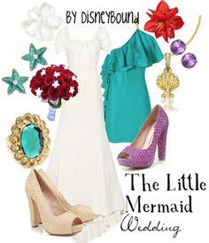 Disney The Little Mermaid - Wedding Disney Bound Outfits, Disney Dresses, Disney Clothes, Little Mermaid Wedding, The Little Mermaid, Cute Disney, Disney Style, Disney Disney, Costume Halloween