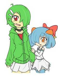 OMG! They are so cute! Gardevoir and Kirlia based on Rakkuguy's comics