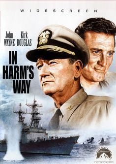 "John Wayne & Kirk Douglas (Movie Poster) ""In Harms Way""… Old Movies, Vintage Movies, Great Movies, Movie Photo, Movie Stars, Movie Tv, Kirk Douglas, Capas Dvd, John Wayne Movies"